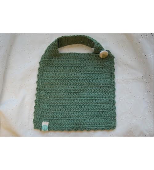 Käsitsi heegeldatud roheline pudipõll